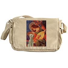 Mandolin /Bedlington Terrier Messenger Bag