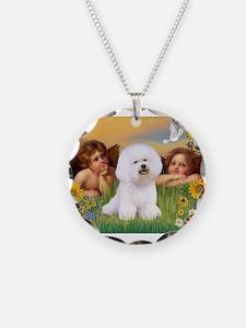 Angels & Bichon Frise Necklace
