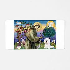 St Francis / Bichon Frise Aluminum License Plate