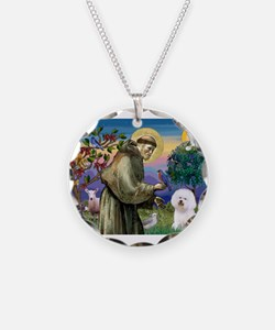 St Francis / Bichon Frise Necklace