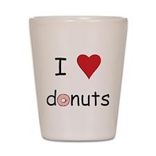 I Love Donuts Shot Glass