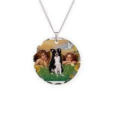 Cherubs / Border Collie Necklace