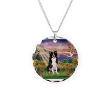 Autumn Angel / Border Collie Necklace