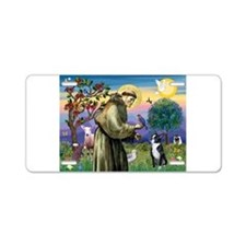 St Francis / Boston Terrier Aluminum License Plate