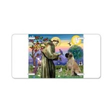 Saint Francis / Bullmastiff Aluminum License Plate