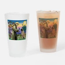 Saint Francis / Bullmastiff Drinking Glass