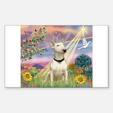 Cloud Angel /Bull Terrier Sticker (Rectangle)