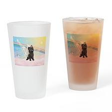 Angel / Cairn Terrier (brin) Drinking Glass