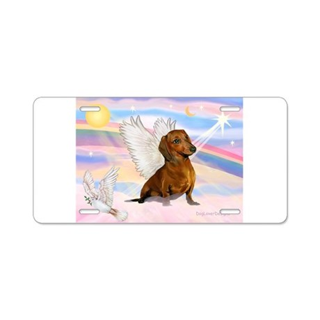 Dachshund / Angel (br) Aluminum License Plate