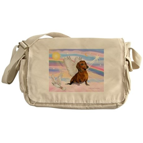 Dachshund / Angel (br) Messenger Bag