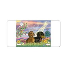 Cloud Angel Doxies Aluminum License Plate