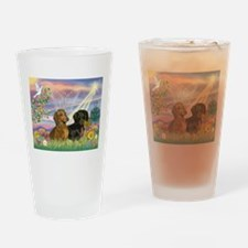 Cloud Angel Doxies Drinking Glass