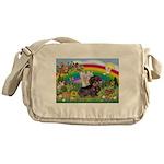 Rainbow Bright / Dachshund (w Messenger Bag