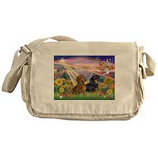 Autumn Angel / Dachshund pair Messenger Bag