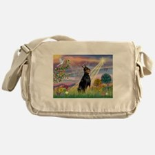 Cloud Angel & Dobie Messenger Bag