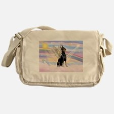 Dobie Angel in Clouds Messenger Bag