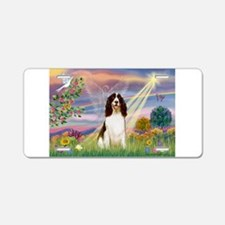 Cloud Angel & Springer Aluminum License Plate