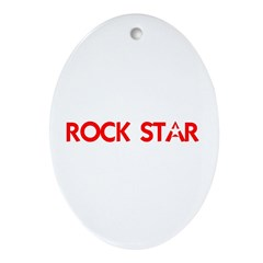 ROCK STAR III Ornament (Oval)