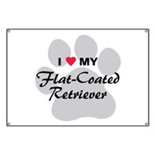 Love My Flat-Coated Retriever Banner