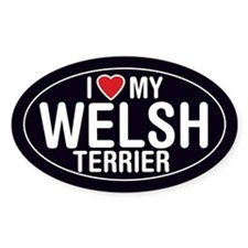 I Love My Welsh Terrier Oval Sticker/Decal