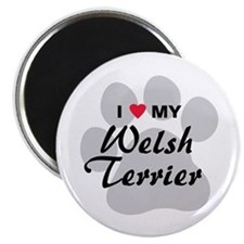 I Love My Welsh Terrier Magnet