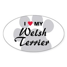 I Love My Welsh Terrier Decal
