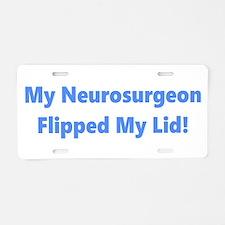 My Neurosurgeon Aluminum License Plate