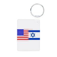 US ISRAELI FLAG Keychains