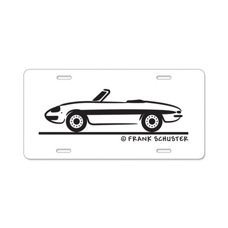 Alfa Romeo Spider Duetto Aluminum License Plate by