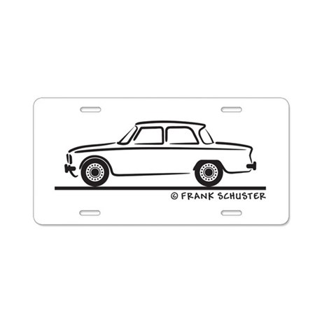 alfa romeo giulia aluminum license plate by frankschuster