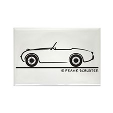 1959 Austin Healey Sprite Rectangle Magnet