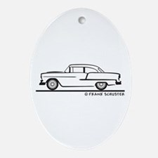 1955 Chevrolet Sedan Two Door Ornament (Oval)