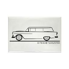 1955 Chevrolet Stationwagon Rectangle Magnet
