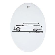 1955 Chevrolet Stationwagon Ornament (Oval)