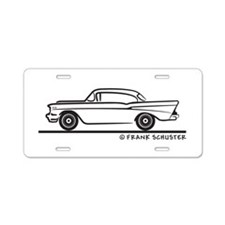 1957 Chevy Hardtop Coupe Aluminum License Plate