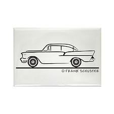 957 Chevrolet Sedan Rectangle Magnet