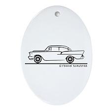 957 Chevrolet Sedan Ornament (Oval)