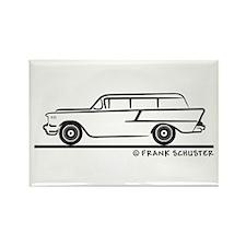 1957 Chevrolet Stationwagon Rectangle Magnet