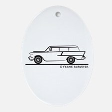 1957 Chevrolet Stationwagon Ornament (Oval)