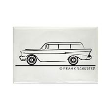 1957 Chevrolet 2-10 Stationwa Rectangle Magnet