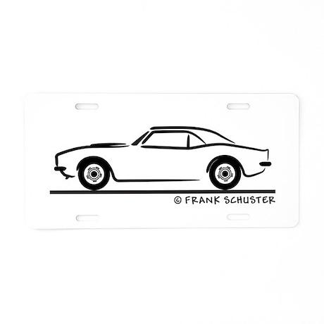 1967, 1968, 1969 Camaro Aluminum License Plate by