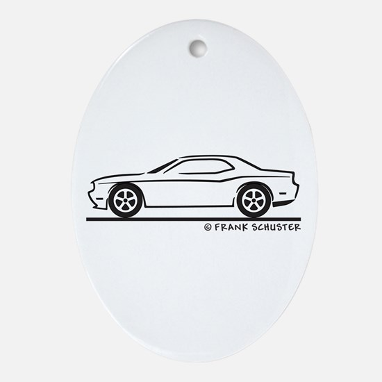 New Dodge Challenger Ornament (Oval)