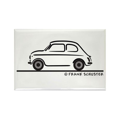 Fiat 500 Cinquecento Rectangle Magnet