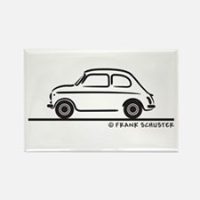 Fiat 500 Cinquecento Rectangle Magnet