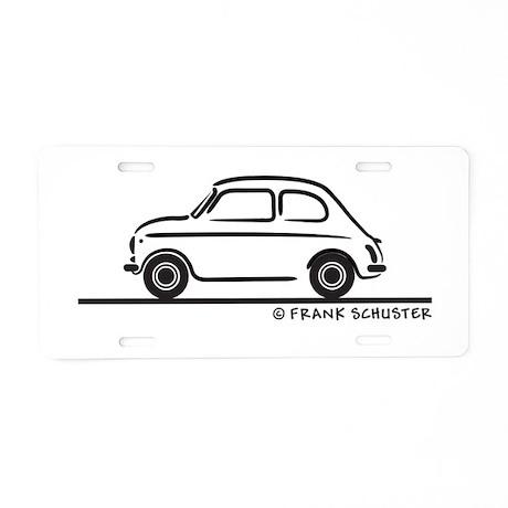 Fiat 500 Cinquecento Aluminum License Plate