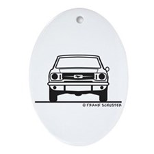 1965 Mustang Front & Back Ornament (Oval)