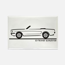 1966 Ford Mustang Convertible Rectangle Magnet
