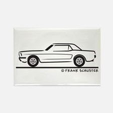 1966 Ford Mustang Hardtop Rectangle Magnet