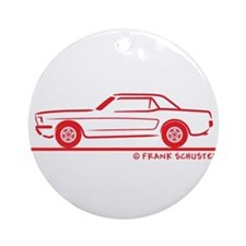 1966 Ford Mustang Hardtop Ornament (Round)
