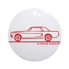 1967 Mustang Hardtop Ornament (Round)